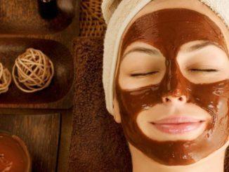 Refreshing chocolate face mask